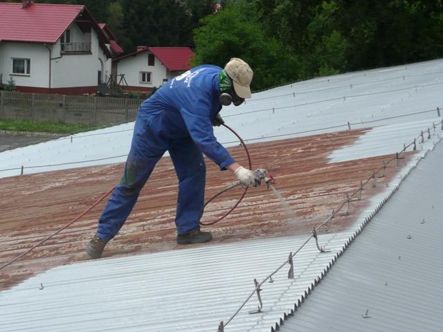 Malowanie blachy na dachu